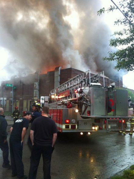 3M Site on Fire