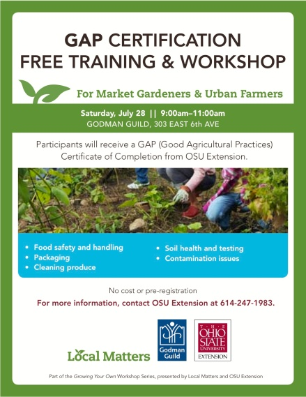 GAP Training flyer