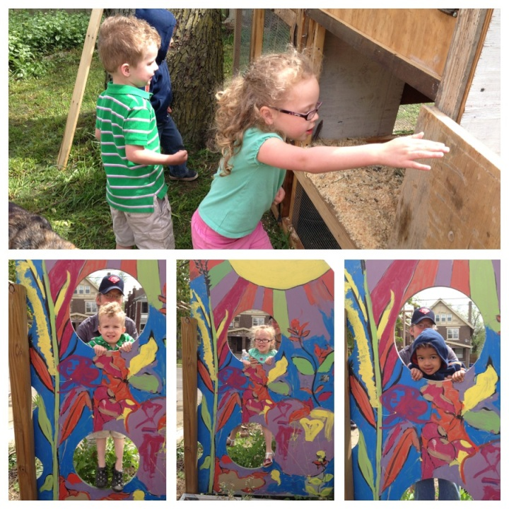 kids art & chicken coop