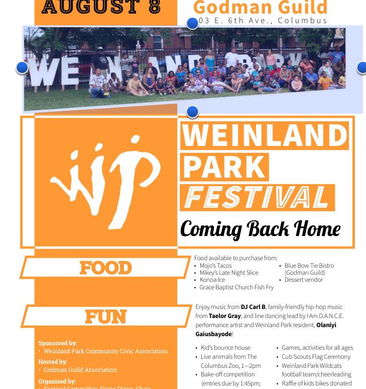Weinland Park Festival 2016 at Godman Guild