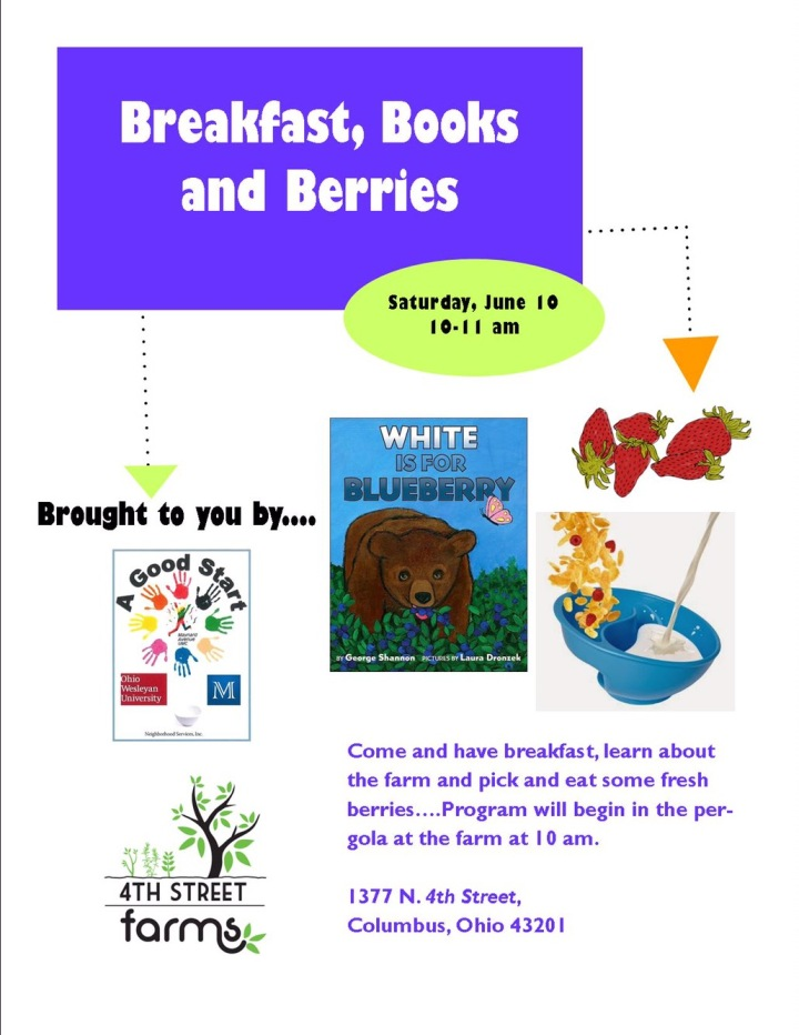 Pick berries for breakfast and storytime