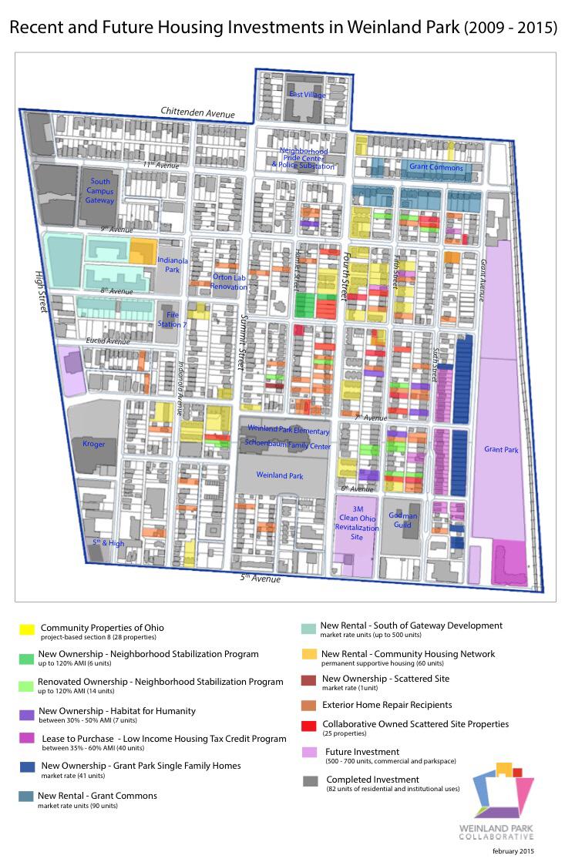 Short North Weinland Park Housing Map